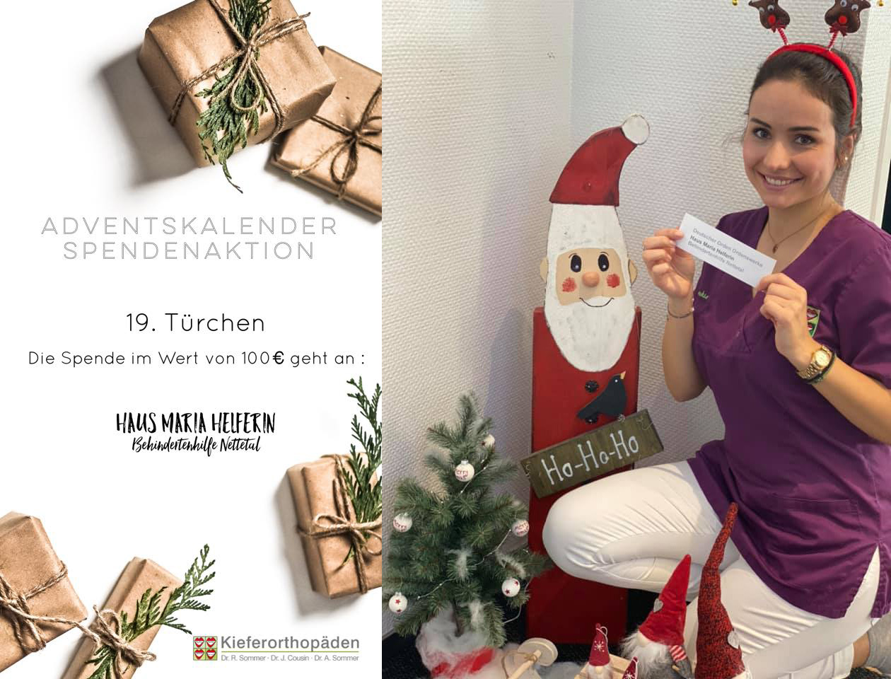 Adventskalender Spendenaktion · 19. Türchen